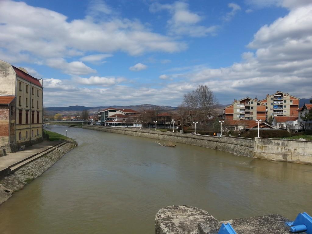 Der Fluss Vlasina in Vlasotince