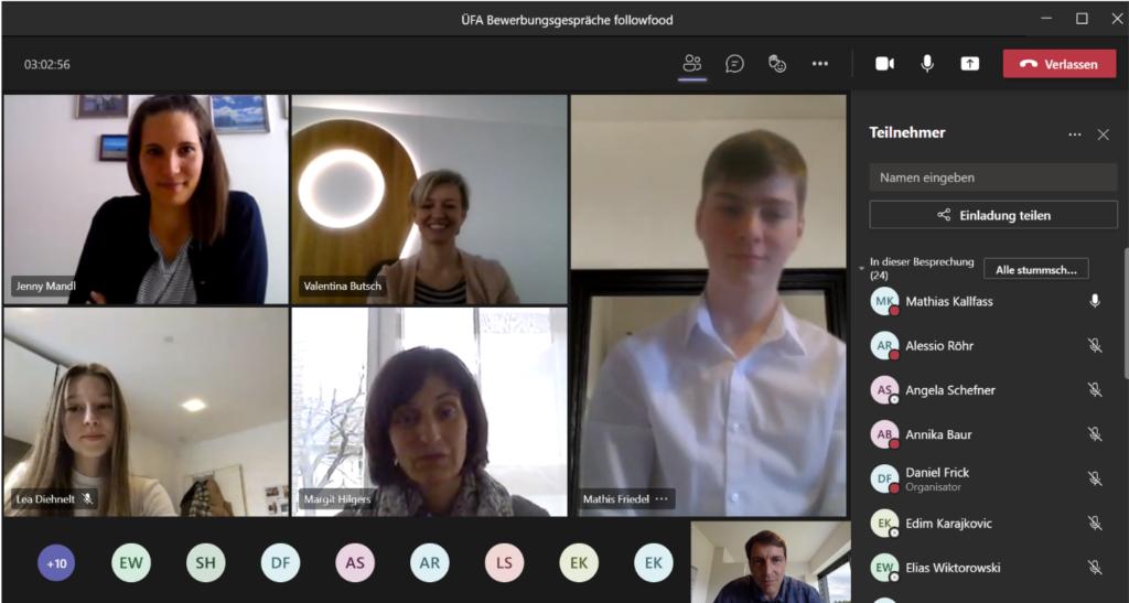 Digitales Meeting mit followfood